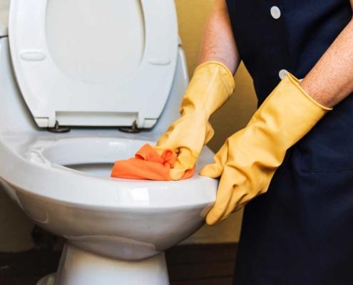 Effektiv vask av toalettet
