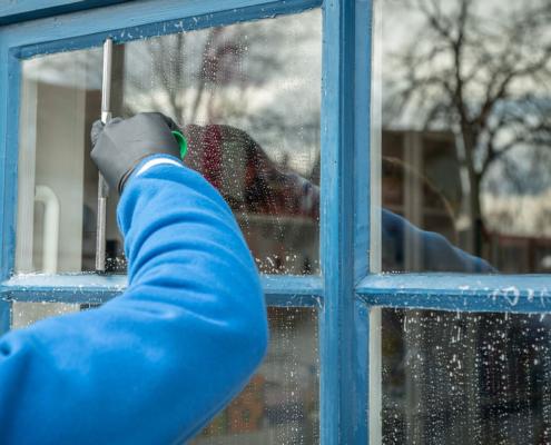 rengjøring av vindu
